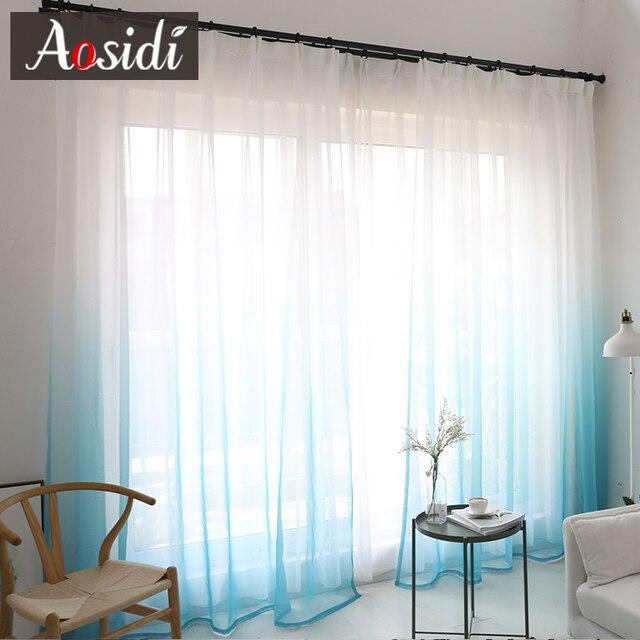 Gradient Color Bedroom Curtain 2