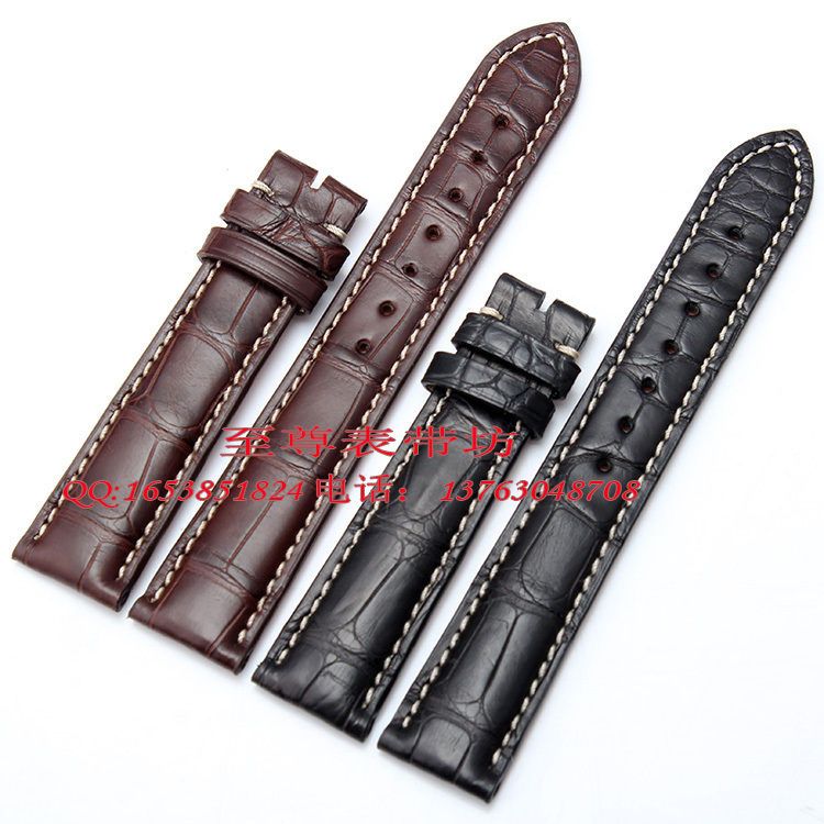 Watchband Wholesale price! Free shipping top quanlity Genuine Alligator leather strap watchbands 22mm  for many brand watch new high quality genuine leather watchband leather strap 22mm for jpw601 free shipping