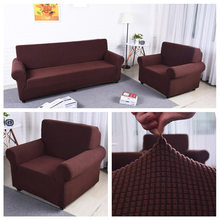 Solid Color Slipcover Polar Fleece Elastic Couch Cover Elastic full sofa Cover 1/2/3/4 seater Stretch Pillow Case Chair Covers(China)