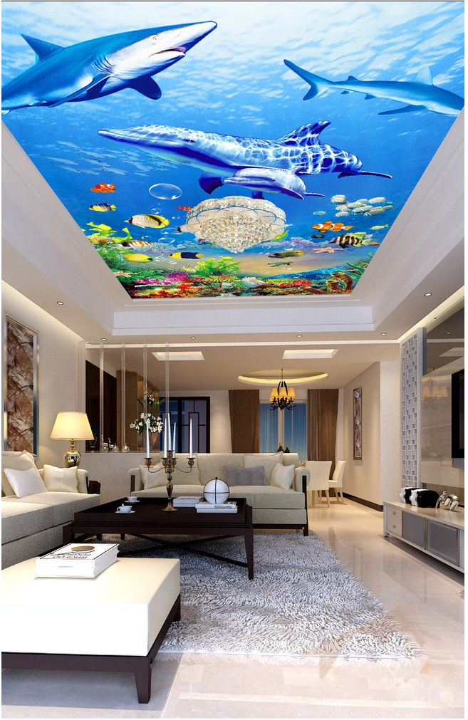 Compare prices on ocean wallpapers online shopping buy for Custom mural cost