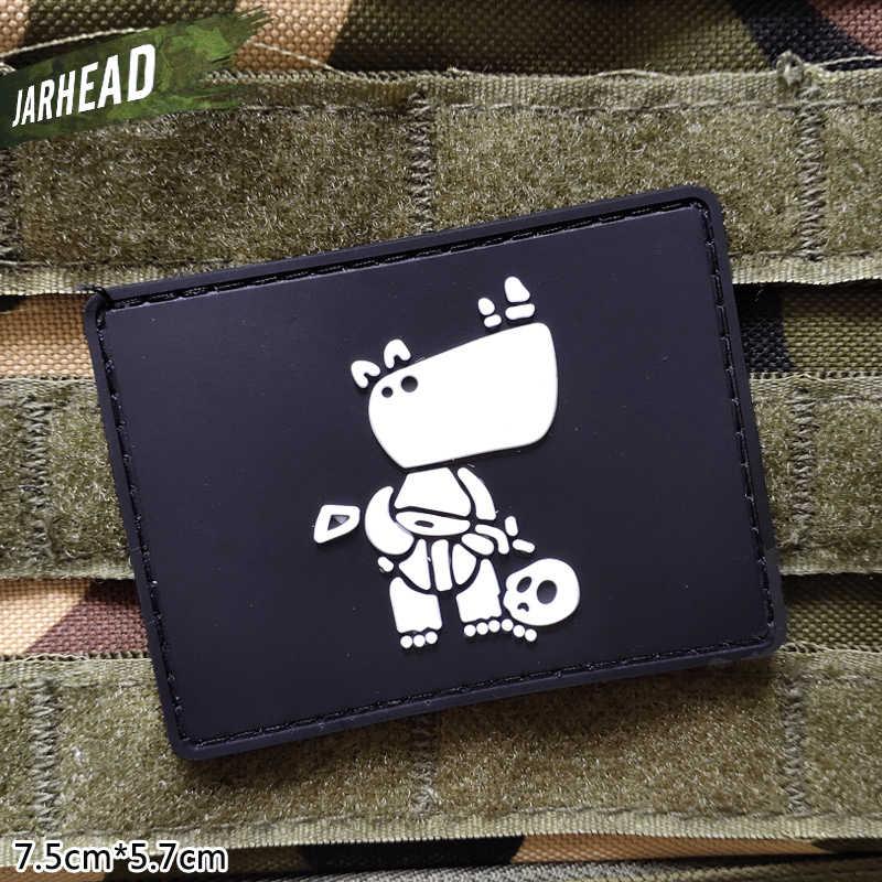 戦術的なサイ軍事 Pvc パッチベルクロゴム腕章戦術的なバッジ人格バックパック帽子服