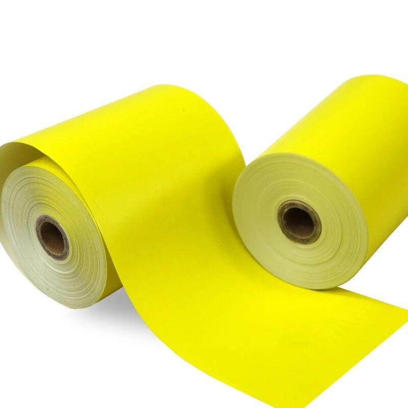 Color Thermal Paper 80mm X 60mm, Yellow Color,  2 Rolls,   Cash Register Receipt Till Rolls