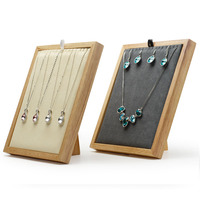 16 Hook L Type Wood Necklace Earring Display Show Case Holder Women Ladies Jewelry Organizer Necklaces