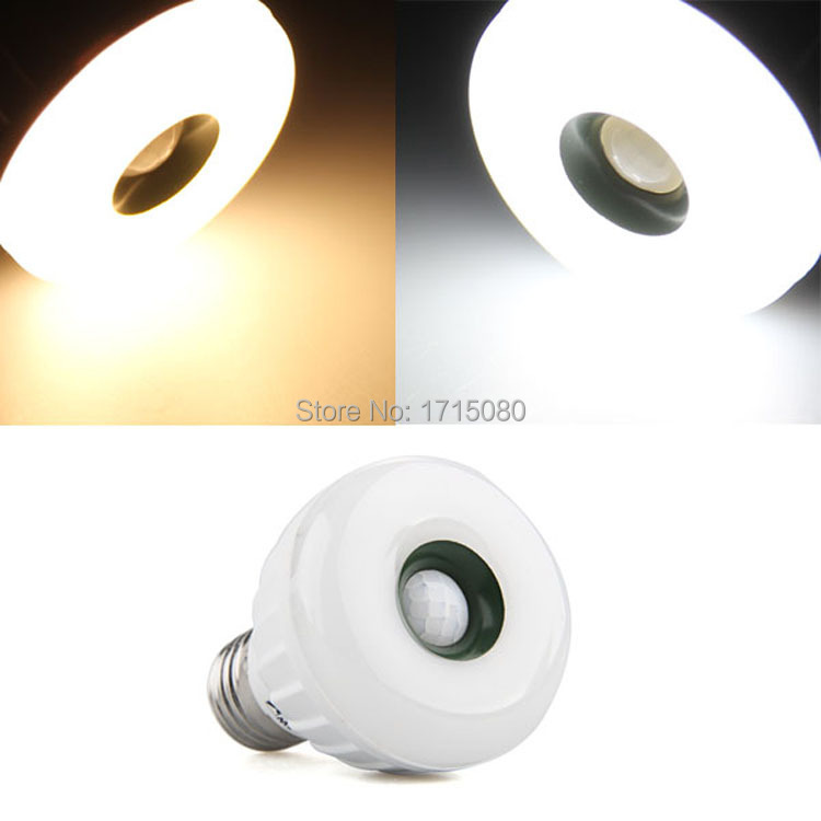 купить E27 5W LED Flexible IR Infrared Sensor PIR Motion Detector Automatic bulb Lamp AC 85-265V for home lighting via free shipping недорого