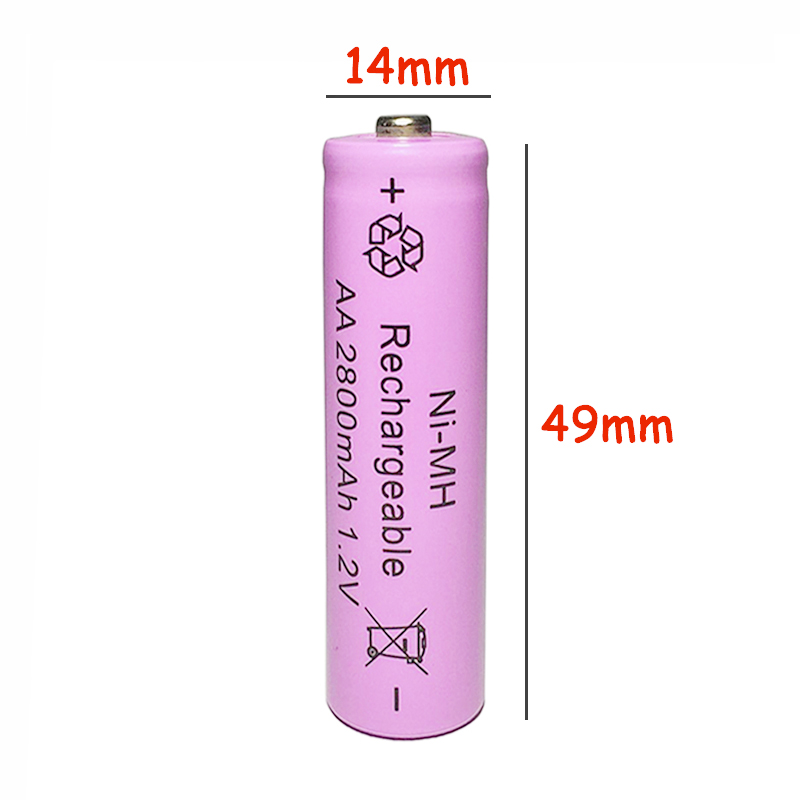 12Pcs 1 2V AA 5 2A 2800mAh NI MH Battery battiries batteria Rechargeable Low self Battery Capacity camera toys free shipping in Rechargeable Batteries from Consumer Electronics