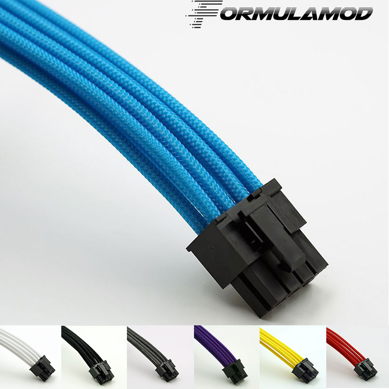 FormulaMod Fm-PCI8P-A, PCI-E 8Pin GPU Power Extension Cables, Motherboard 18AWG 8Pin Multicolor Matching Extension Cables