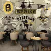 Papel pintado de foto personalizado de la serie militar de camuflaje fondos de pared de fondo de restaurante centros comerciales papel pintado personalizado mural