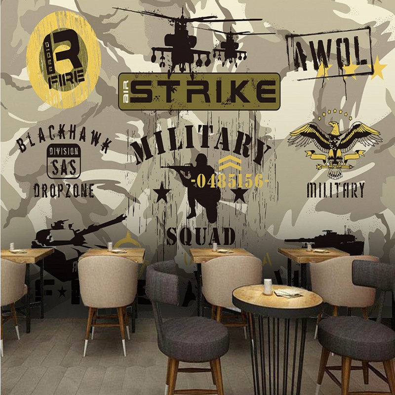 Custom photo wallpaper Camouflage military series background wallpapers restaurant shopping malls custom wallpaper mural