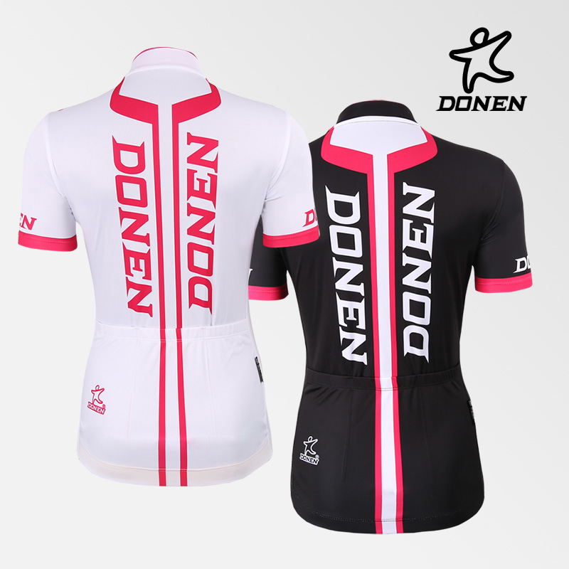 DONEN Big Discount Cycling Women Pink Short Sleeve Jersey Bib Shorts Paded Bike Racing Team Road Biker Cycling Sports Suit/Set