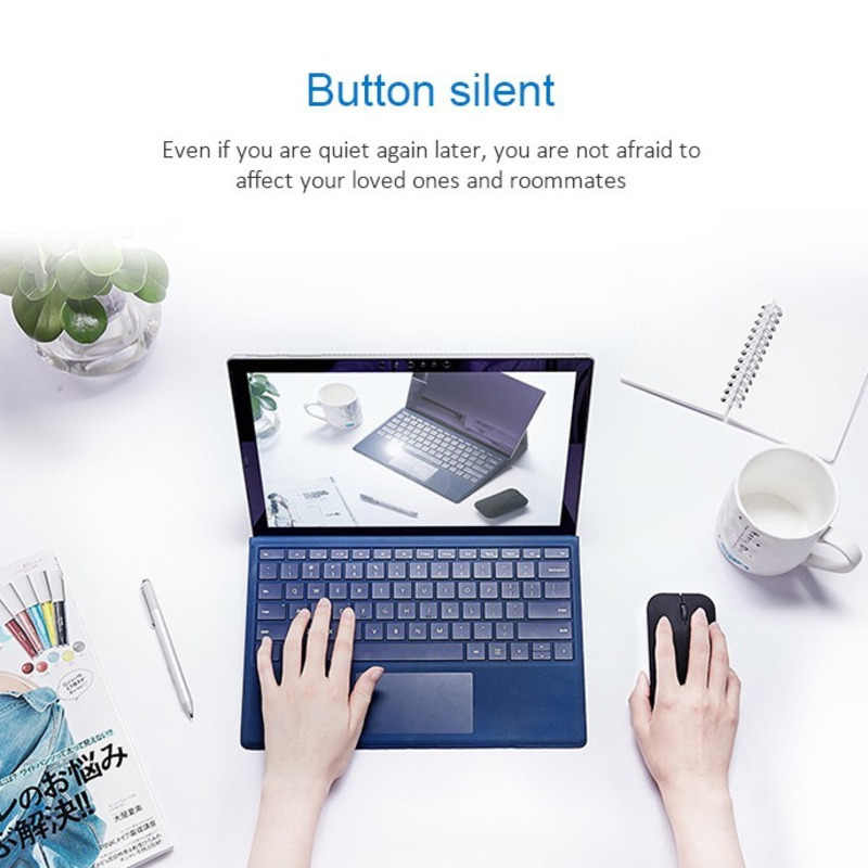 Souris sans fil Bluetooth 4.0 souris rechargeables silencieuses ordinateur optique mince 1200 Dpi jeu applaudissements pour PC Huawei ordinateur portable bureau