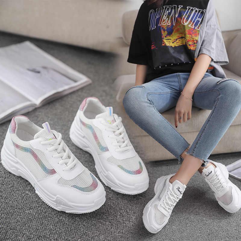 2019 moda wiosna lato dzikie białe oddychające kobiety trampki koreański, sport, rozrywka, buty damskie buty wulkanizowane