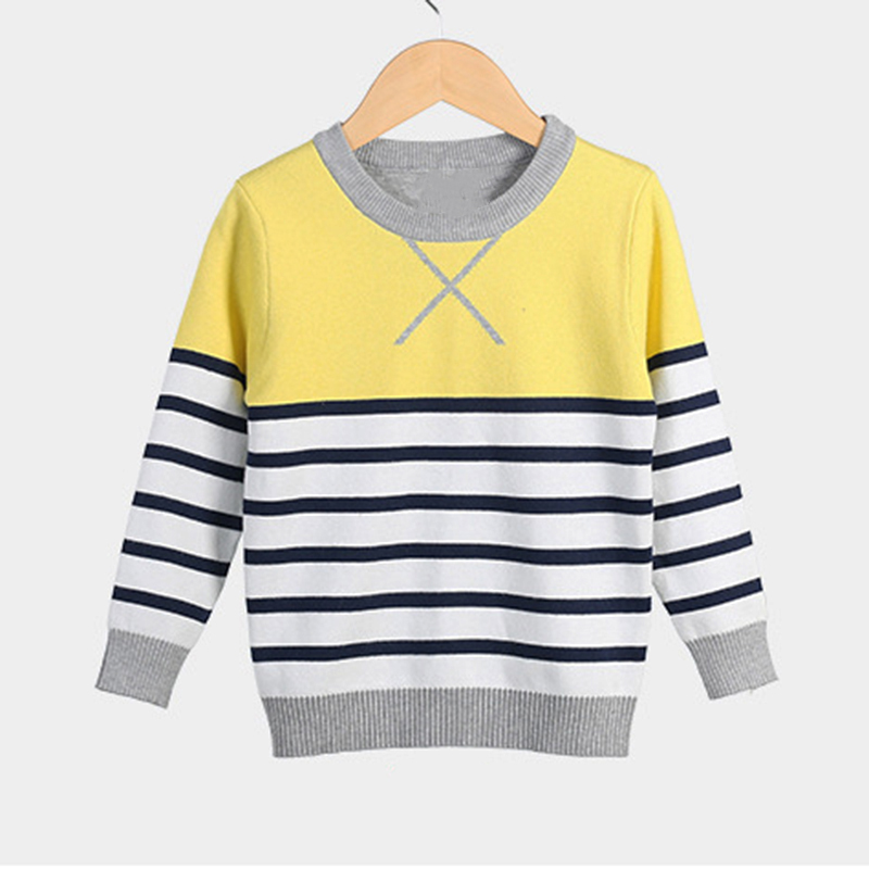 Yellow Sweater For Boy Pullover Tops Tiny Cottons Baby Boy Sweater Winter Long Sleeve Boys Sweaters dolman sleeve asymmetrical pullover sweater