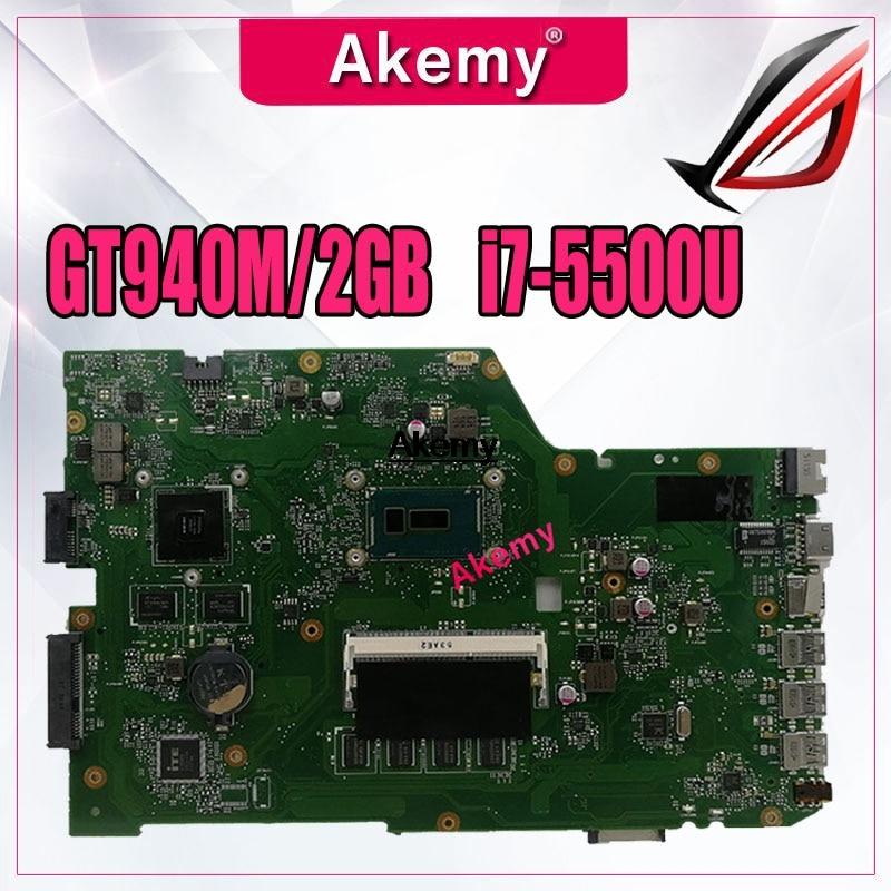 Akem X751LB GT940M 2GB mainboard For ASUS X751L R752L K751L X751LN X751LD X751LJ X751LB DDR3 Laptop