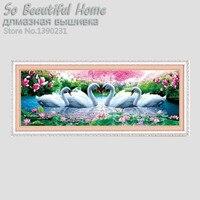 YGS 41 DIY 5D Swan Eternal Love square Diamond Painting Cross Stitch Kits Soulmate Diamond Mosaic Home Decor Diamonds Embroidery