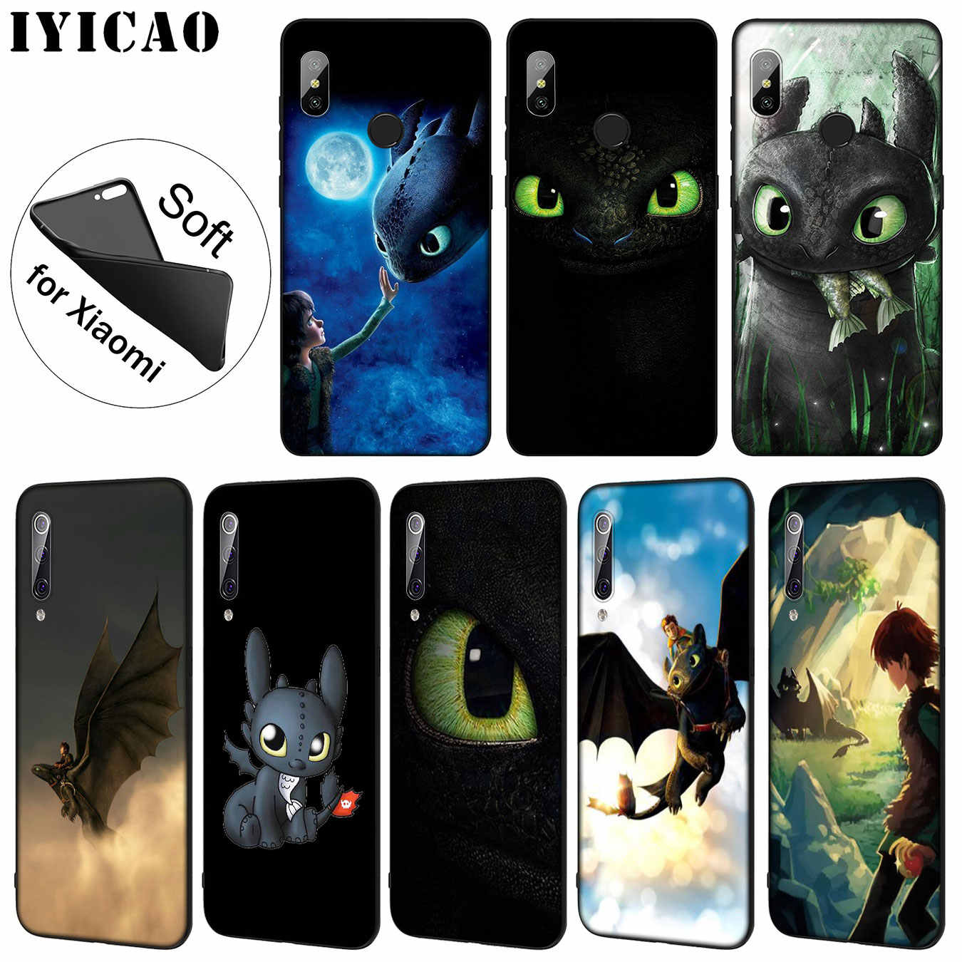 How To Train Your Dragon desdentado IYICAO Soft Case Telefone para Xiao mi mi 9 SE 9T CC9 CC9E 8 A3 Pro A1 A2 Lite pocophone f1 MAX 3