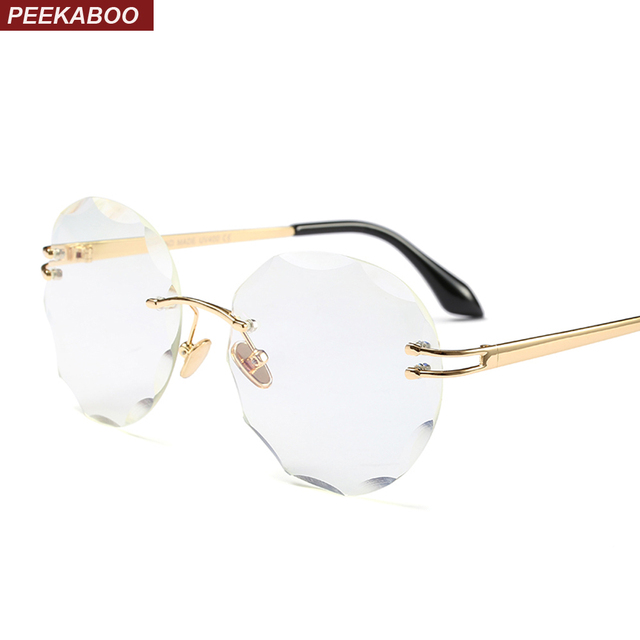 f5e08154b68982 Coucou sans cadre lunettes femmes sans monture 2018 métal objectif clair  cadre rond lunettes cadres pour