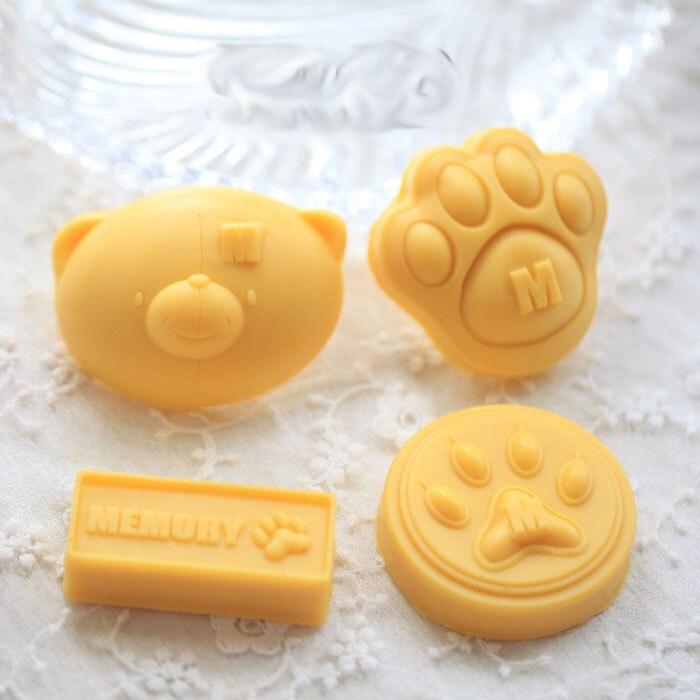 4 шт медведь ноги силиконовые ручной работы Мыло Свеча для украшения торта формы
