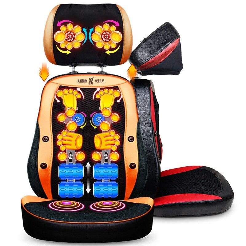 Elettrico back massager vibra Cervicale gramolazione dispositivo di massaggio multifunzionale cuscino del collo delle famiglie di tutto il corpo sedia di Massaggio