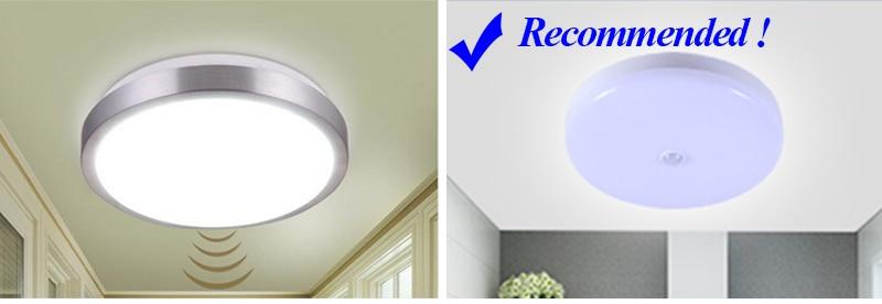 HTB1d55iadjvK1RjSspiq6AEqXXaZ Surface Mounted LED Ceiling Lamps PIR Motion Sensor Night Lighting 12/18W Modern Ceiling Lights For Entrance Balcony Corridor