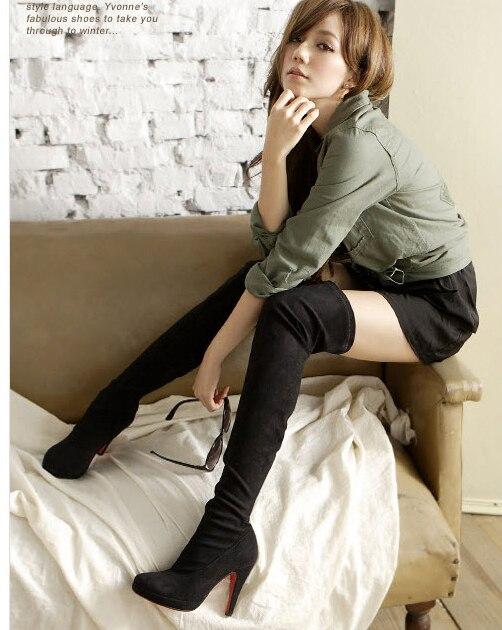 Aliexpress.com : Buy 2015 new red bottom high heels women boots ...