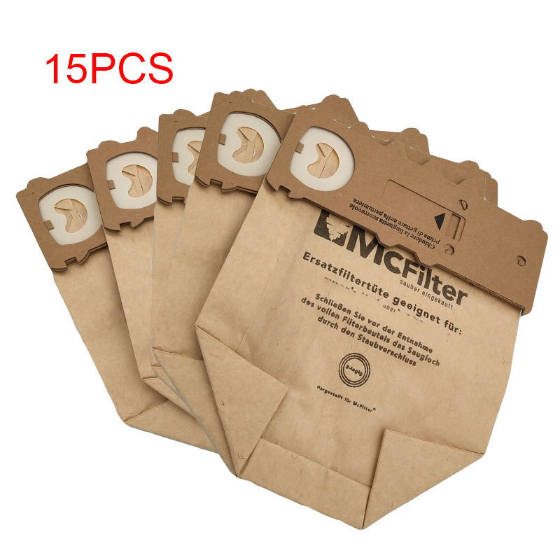 15 pcs /lot dust bag cleaning bags fit for <font><b>Vorwerk</b></font> Vacuum cleaner parts <font><b>VK130</b></font> VK131 kobold130 131 FP131 image