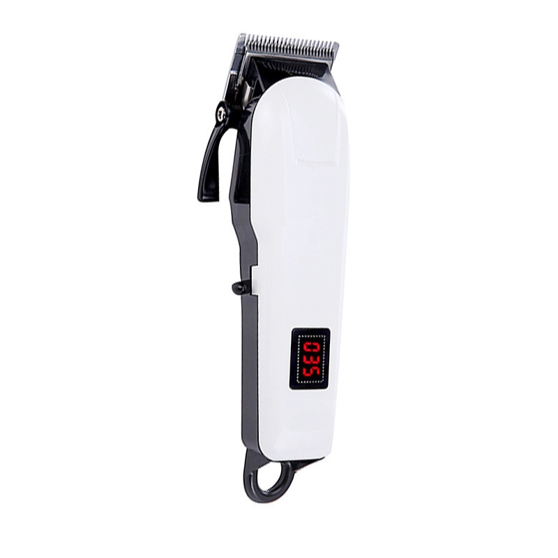 100V-240V LCD Electric Barber Hair Clipper Rechargeable Beard Trimmer for hair cutting Machine 0 8 lcd rechargeable children water resistant hair clipper trimmer w accessories blue white