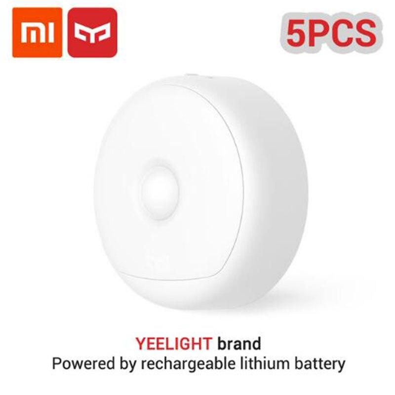 (carga Usb) Xiaomi Mijia Yeelight Led Luz Nocturna Infrarroja Magnética Con Ganchos Control Remoto Sensor De Movimiento Bebé Lámpara 5/3/ 2/1 Piezas Ser Amigable En Uso