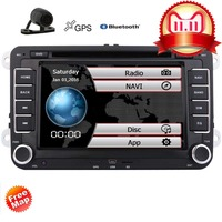 Free Camera+Touch Screen 2 Din Car Cassette DVD Player GPS Navigator multimedia Stereo In Dash auto Radio Support Bluetooth iPod