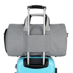 Image 4 - Men Large Travel Bags Foldable Duffle Bag Business Weekend Bags Oxford Suit Protect Cover Women Travel Bag Organizer Handbags
