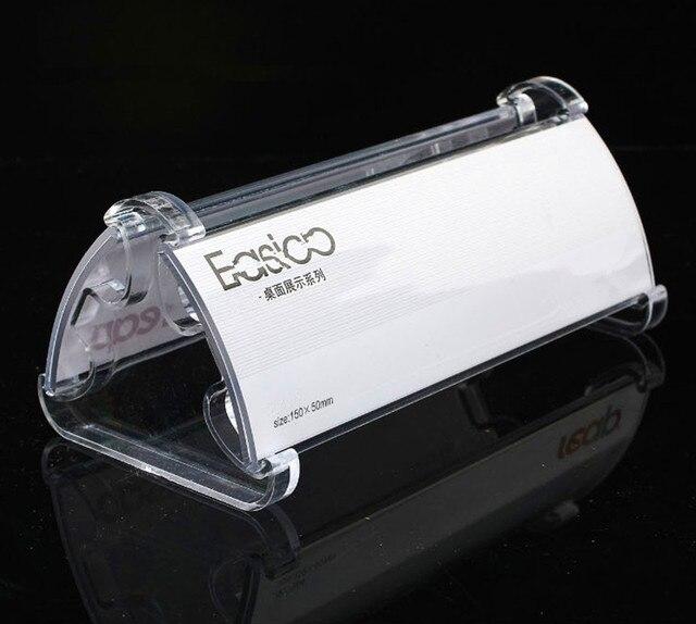 2bd48e09db2 Limpar 6   x 2   Plástico Acrílico Reutilizáveis Desktop Duplo Display de  Papel
