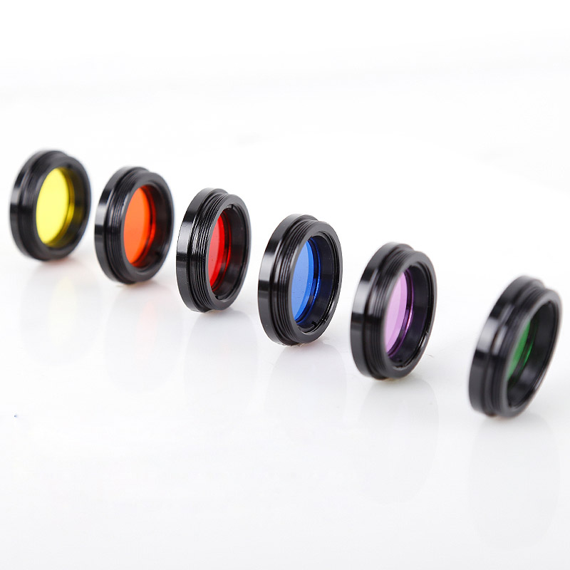 """Image 3 - Angeleyes 1.25"""" Color Astro Filters Set (6 pieces) for Astronomical Telescopes Ocular Lens Planets Nebula Filter SkyGlowMonocular/Binoculars   -"""