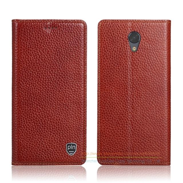 """Invisível ímã estojo de couro genuíno para lenovo vibe p2 5.5 """"de luxo com suporte flip capa de couro do couro do telefone móvel"""
