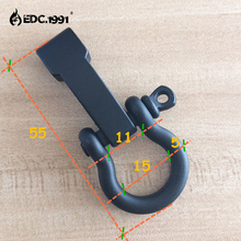 10 PCS Scrub O Shape Alloy Adjustable Anchor Shackle Emergency Rope Survival Paracord Bracelet Buckle for Outdoor Camping tools