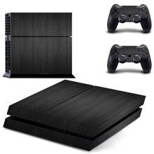 ОСТ Стикеры черный винил кожа для PS4 консоль Крышка для playstaion 4 консоли PS4 кожи Стикеры + 2 шт. контроллер