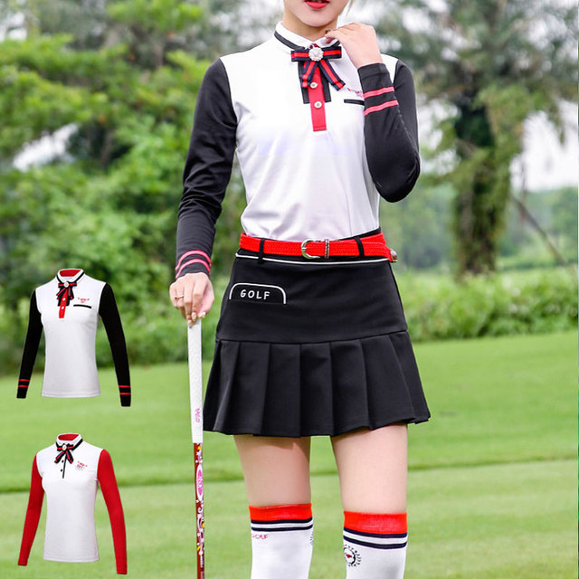 2018 Pgm Golf T-Shirts For Women Outdoor Sport Clothes Tops Long Sleeve Soft Shirt Woman Training Golf Apparel D0491