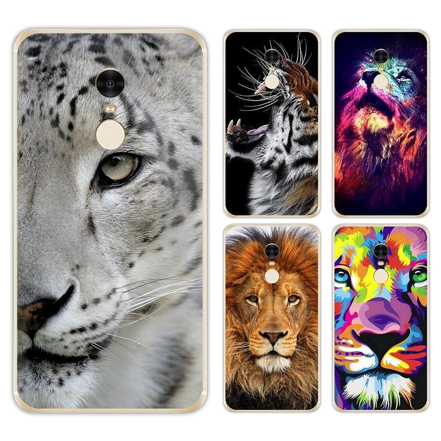 LISM Big Lion On Stone Snow Hard Case For Xiaomi Mi A1 5X 5S 6 5 Redmi 5A 5 Plus 4X 4A 3S Note 5A Prime 4X 3 Pro
