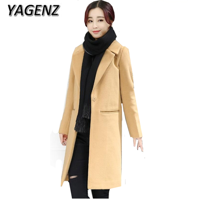 Yagenz Frauen Winter Woolen Jacke Mäntel Boutique Kleidung Mode