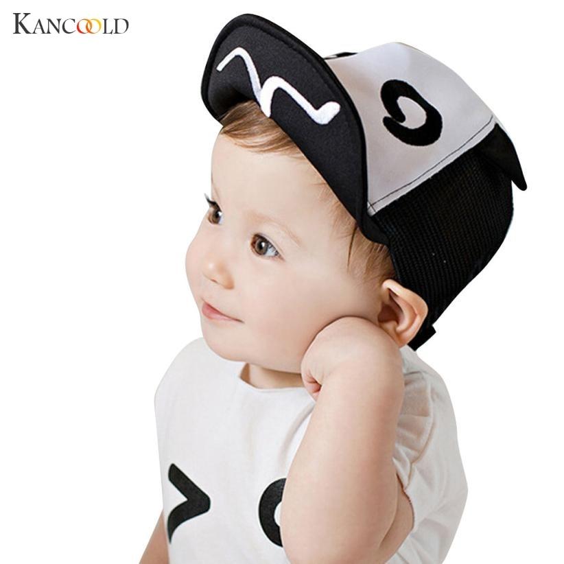 2017 Children Hat with Ears Animal Cartoon Kids   Baseball     Cap   Palm Babyboy Summer Cotton   Caps   Girls Soft Sun hats AP203