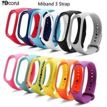 BOORUI silicone miband 3 smartband wrist strap silicone adjustable colorful mi 3 band belt