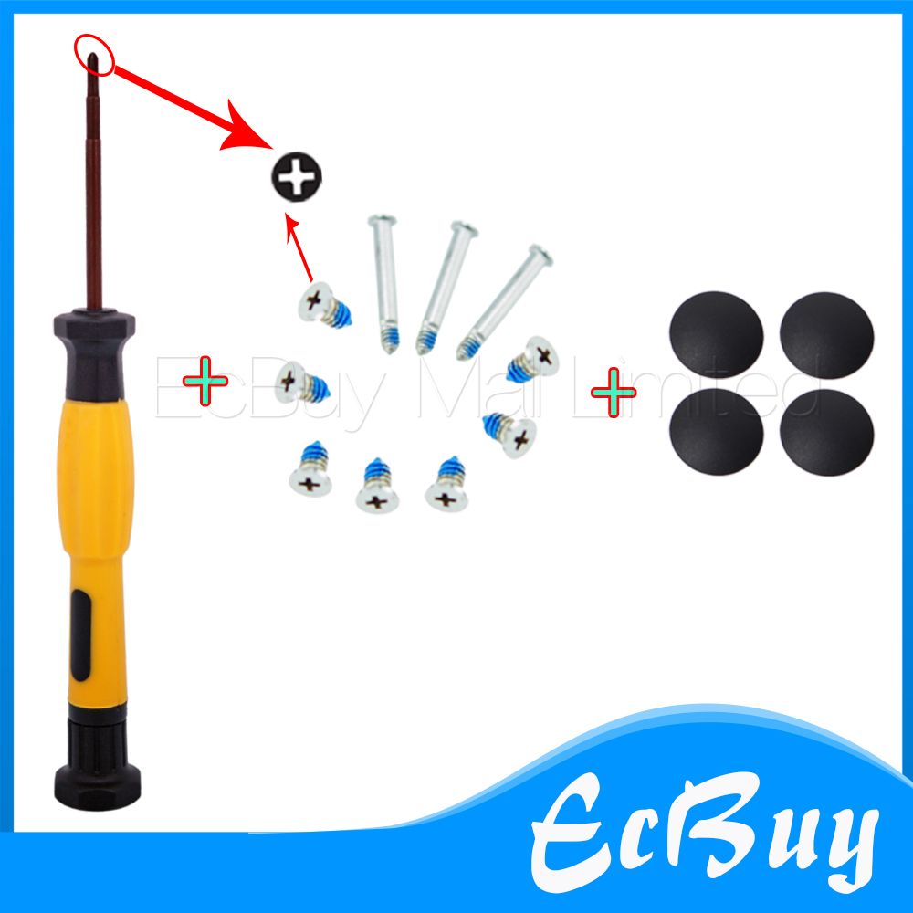 hight resolution of new for a1278 a1286 a1297 4pcs plastic no rubber bottom case cover feet foot kit screws set tool for macbook pro 13 15 17 in computer cables