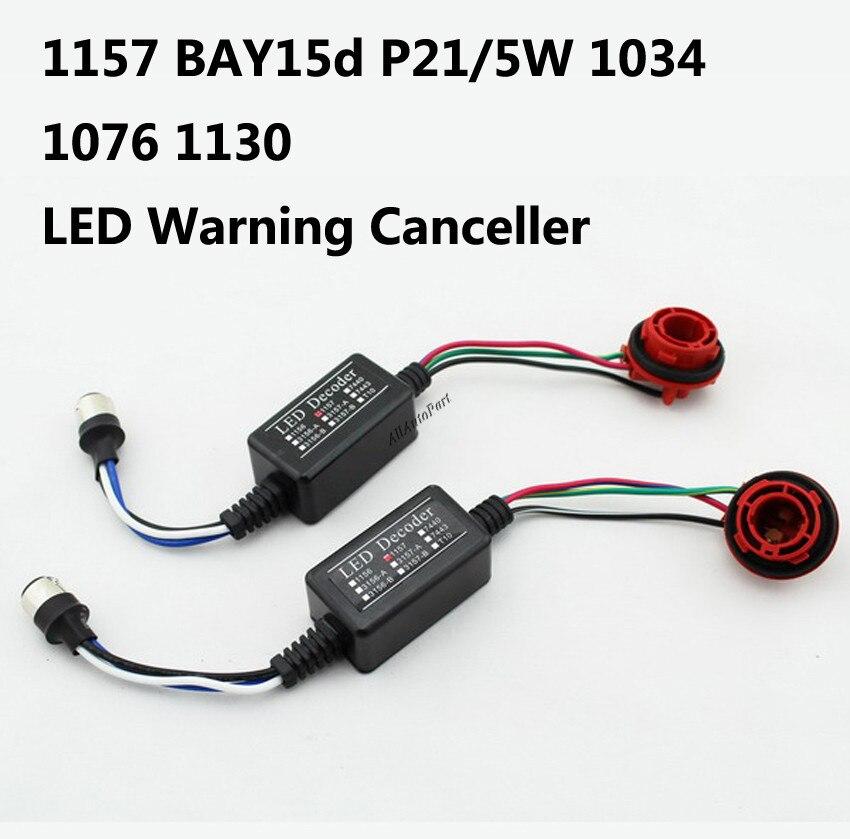 1set 2pcs BAY15D 1157 S25 Canbus LED Light Bulb Warning Decoder Load Resistor Socket Error Fit