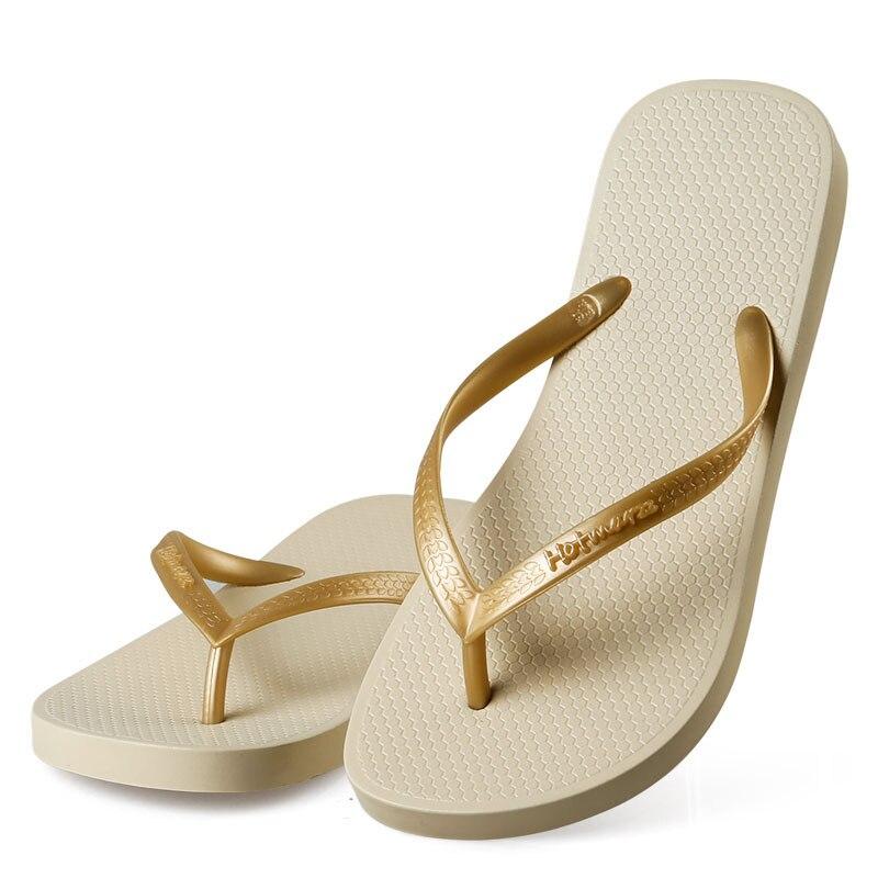 Hotmarzz Women Shoes Slippers Fashion Designer Beach Flip Flops Ladies 2017 Summer Flat Thong Sandals Shower Slides