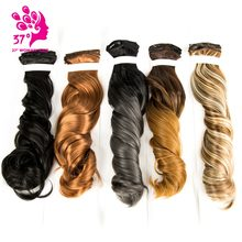 "20"" Synthetic Overhead Hair On Clips 16 Clips 7pcs/set Extenciones of Hair Natural Hairpieces For Hair Extensions(China)"
