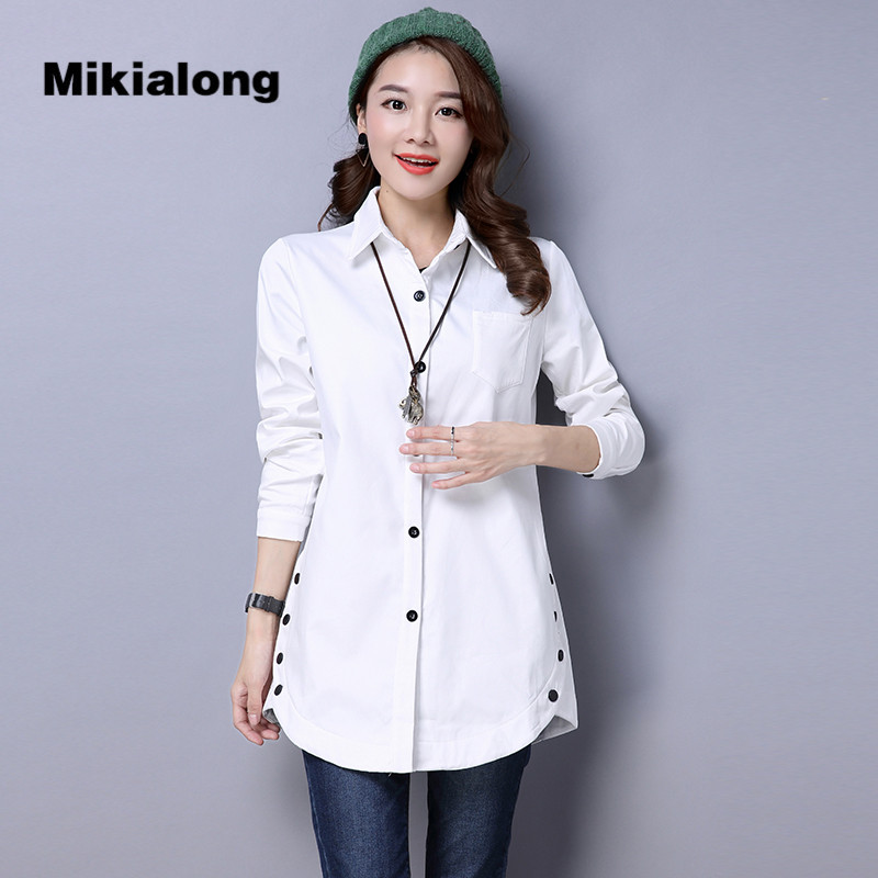 Mikialong 2017 new winter thick velvet vintage women for Thick white shirt womens