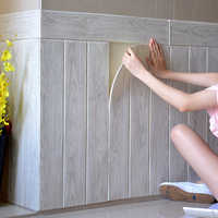 3D Wallpaper Self Adhesive Woodr Grain Wall Sticker Soft Package Kindergarten Walls Decoration Waterproof Foam Wall Sticker