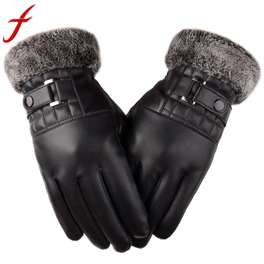Men's Gloves Rapture Feitong Men Gloves Winter Warm Pu Leather Motorcycle Ski Snow Snowboard Full Finger Touching Screen Gloves Mitten Gants Femme