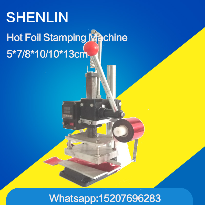 Hot foil stamping machine bronzing machine manual embossing machine with foil holder support gilding press bronzing hot foil stamping machine