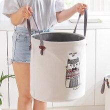 Мультяшная тканевая корзина для белья, Большая складная корзина для грязной одежды, корзина для хранения игрушек, коробка для домашнего украшения, тканая корзина