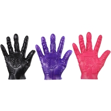 Good Quality Five-finger Massage Gloves Adult Erotic Flirting Foreplay Sex Toy For Couples