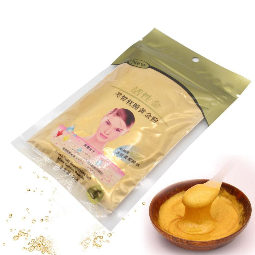 Treatments & Masks Skin Care 2018 New Top Fashion 50g Gold Active Face Mask Powder Anti Aging Luxury Spa Treatment 100% Brand New High Quality Face Mask Anne